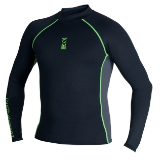 MEN'S LONG SLEEVE TOP - BLACK / GREEN