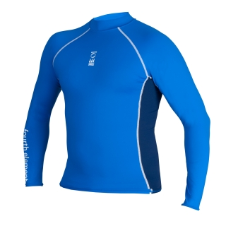 MEN'S LONG SLEEVE TOP - ROYAL / NAVY